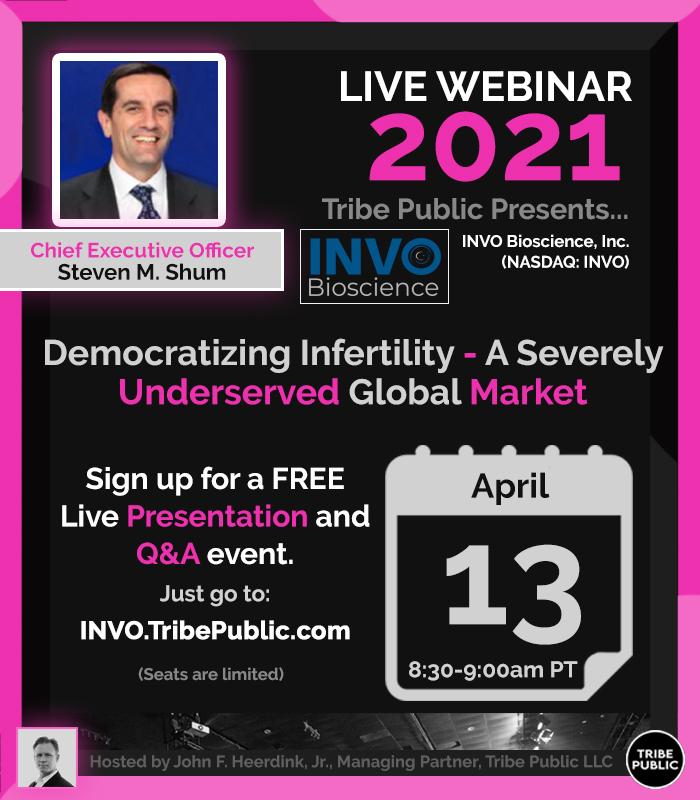 """Democratizing Infertility – A Severely Underserved Global Market"" – INVO Bioscience (NASDAQ: INVO) CEO Interview 4-13-2021"